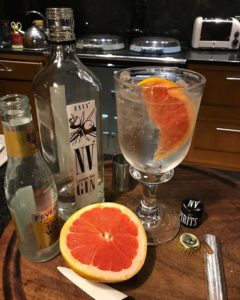 Gin & Tonic with Pink Grapefruit