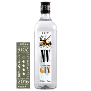 Envy Gin with Diffords Guide 4 Star Award
