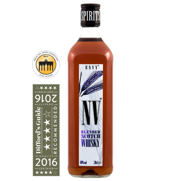 ENVY / NV Whisky Gold medal Winner at Berlin International Spirits Show and Diffords Guide 4 Star Award