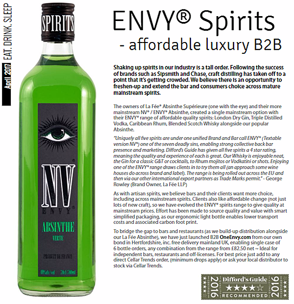 eat, drink, sleep text with ENVY Absinthe Verte